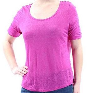 NWT Lauren Ralph Lauren Purple Cuffed T-Shirt M